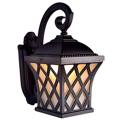 HYYK Vintage Outdoor Paint Wall Sconce Light American Pastoral Outdoor Villa Gate Wall Lamp Balcony Terrace Courtyard Garden Waterproof Exterior Wall Lighting