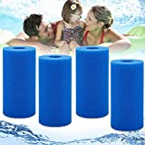 Skreened 4PCS Pool Filter Sponge Cartridge for Intex Type A Swimming Pool Filter Foam Pool Cleaner Foam ReplacementReusable Washable Foam Hot Tub Filter, for Hot Tub, Lazy Spa