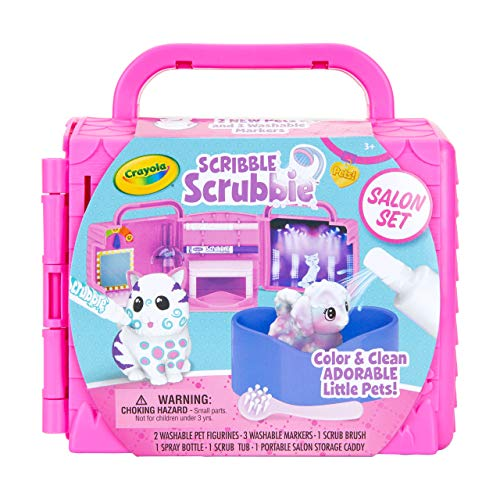 Crayola Scribble Scrubbie Pets, Beauty Salon Playset with Toy Pets, Gifts for Girls & Boys