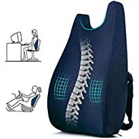 Ertong Lumbar Support Pillow Back Cushion Memory Foam Orthopedic Backrest Used for Chair Back Support