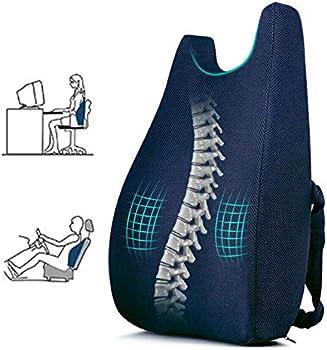 Ertong Lumbar Support Pillow Cushion Memory Foam for Chair Back Support