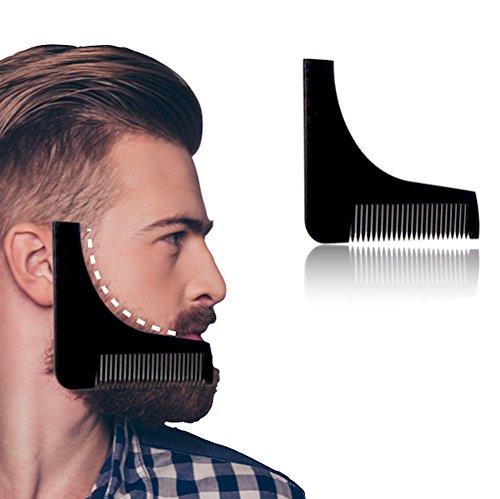 Bart Stencil e pettine: Presentazione come aiuto per rasoio per una rasatura ordentliche | Barba pettine