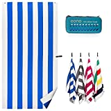 Amazon Brand - Eono Serviette de Plage Extra-Large en Microfibre, compacte, légère et séchant Rapidement,...