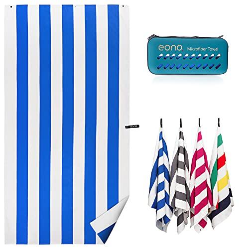 Amazon Brand - Eono Telo mare, Compatto, leggero, ad asciugatura rapida, Extra large, da viaggio,...