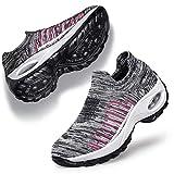 Belilent Womens Walking Shoes Slip on Sneaker Socks Platform Nurse Mesh Breathable Lightweight...