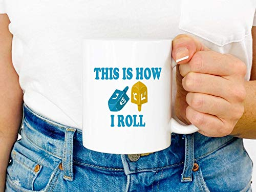 This is How I Roll Mug // Let's Get Lit Mug // Coffee Mug // Hanukkah Shirt // Hanukkah // Holiday Gift // White Elephant // Gift for Her