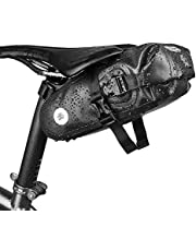 自転車 サドルバッグ 防水 ブラック ウェッジ パック サイクリング バッグ バイクサドルバッグ 大容量 THRLEGBIRD
