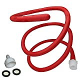 Enema Shower Kit Attachment,Anal Douche for Men and Women Tubing Nozzle Reusable Red Hose 59in