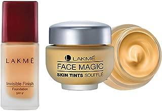 Lakme Invisible Finish SPF 8 Foundation, Shade 01, 25ml & Lakme Face Magic Souffle, Marble, 30ml