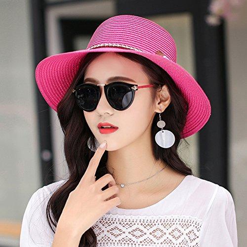 RangYR dameshoed vrouw pet hoedje-viziertoernisekap van strohoed zomerstrandhoed zonwering maat