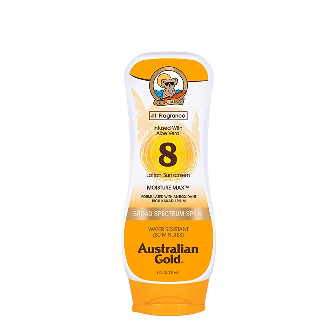 受取人中古強いますAustralian Gold Lotion Sunscreen Broad Spectrum SPF 8 237ml/8oz並行輸入品