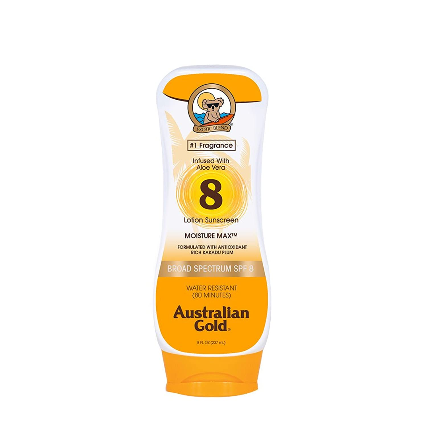 快いできないバッジAustralian Gold Lotion Sunscreen Broad Spectrum SPF 8 237ml/8oz並行輸入品