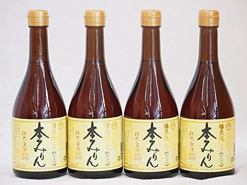 白扇酒造 国産のもち米と米麹 福来純 伝統製法熟成本みりん(岐阜県) 500ml×4