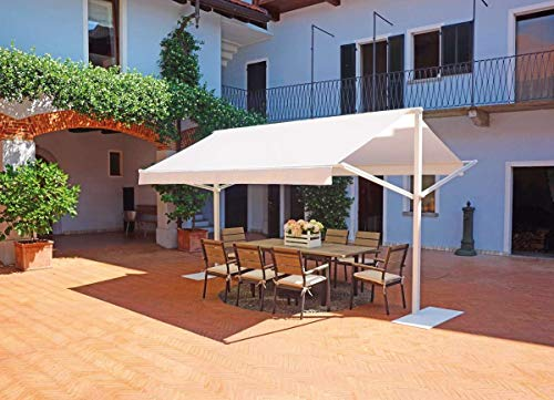 Maruccia Group Garden Pergola 4 x 3 Meters Professional or Home Use Sun Tent Double Garden Gazebo