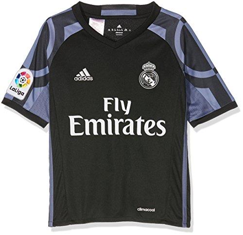 adidas 3 JSY Y Camiseta 3ª Equipación Real Madrid CF 2015/2016, Niños, Negro/Morado, 7-8 años
