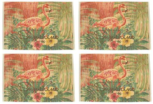 MIK funshopping placemats, 4-delige set, bamboe, 45 x 30 cm