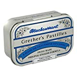 Grether's Pastilles Blackcurrant Sugarless 110g - Lozenges by Grether's pastilles...