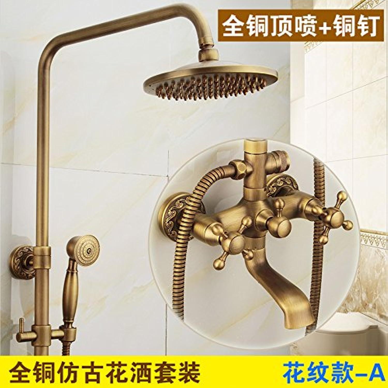 Küche oder Badezimmer Waschbecken Mischbatterie antiken Leitungswasser S voll Kupfer heben Wasser in der Dusche warm und kalt Retro Dusche Suite mit einem Volumen die Blaume tippen Sie auf eine