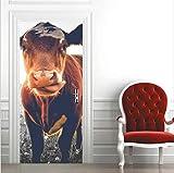 Diy Creative 3D Yellow Cow Door Paste Pasta De Papel Restaurada Dormitorio Pasillo Liquidación Secreta Decorativo Pvc Wallpaper Stickers