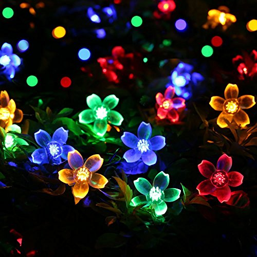 Fairy String Lights Christmas Decorative Lights 33 Feet 100 LEDs, 8 Flash Modes with Tail Plug Connectable Cherry Flower Decoration Novelty Light for Party, Patio, Wedding, Home and Garden 3