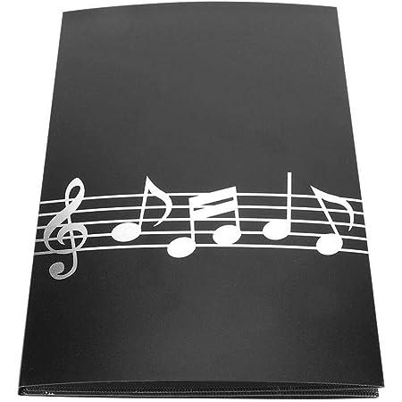 Carpeta de partituras de piano de tamaño A4, 6 páginas, carpeta de partituras de piano para jugadores, músicos, estudiantes