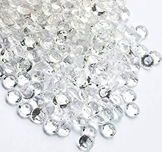 iFavor123 1600PCS Clear 10mm Diamond Table Confetti Acrylic Crystals Quinceañera Wedding Bridal Showers Party Decorations Vase Fillers Table Scatter