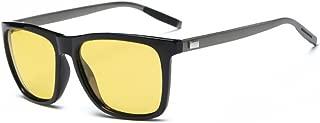 HD AL-MG Polarized Sunglasses Yellow Lens Driving Sun Glasses