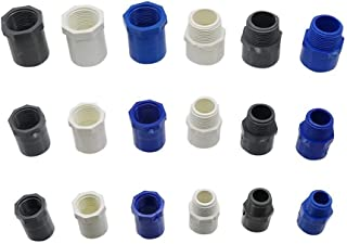 """Pipe Fittings 1/2"""" 3/4"""" 1"""" Female/Male Thread to Inner Diameter 20/25/32mm PVC Connector Water Pipe Fitting PVC Hose Repai..."""