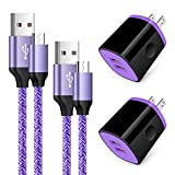 Android Charger, Fast Micro USB Cable Long Android Phone Charger Fast Charging Cord Cable 6ft with Wall Charger Block Plug for Samsung Galaxy S6 S7 J3 J7 Note 5,LG Stylo 2 3 Plus,Tablet,Kindle Fire