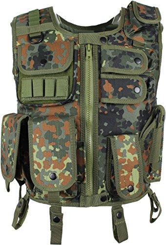 SWAT I Application Gilet av. Etui sécurité Paintball Camouflage Camouflage gr.m