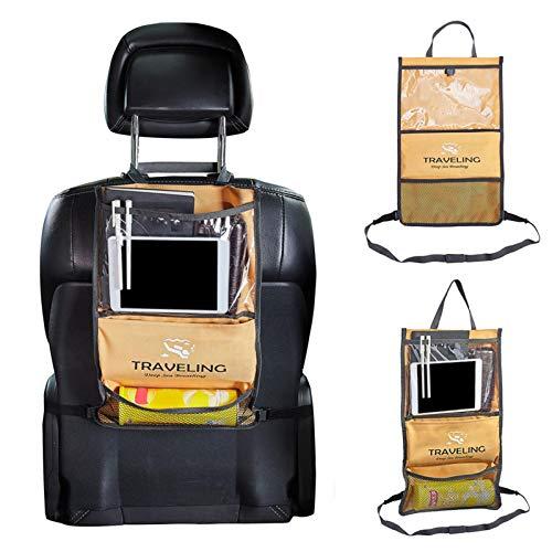 mementoy Organizador universal para asiento trasero de coche con múltiples bolsillos