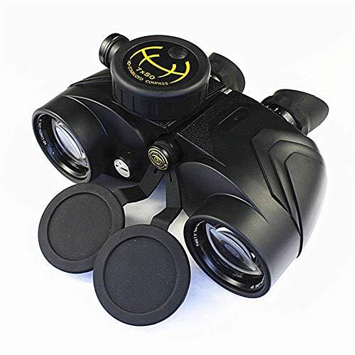 Telescopio binoculares binoculares monoculares Telescopio náutico impermeable 7x50 binoculares HD con brújula para uso en exteriores para observación de aves, g, eventos deportivos, viajes Qingchunw