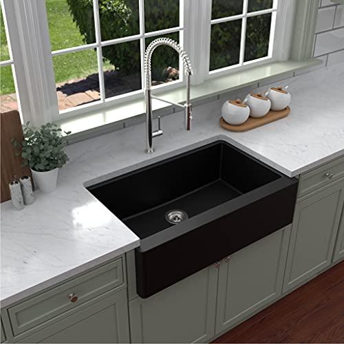 Karran Quartz Apron Front Farmhouse Undermount Kitchen Sink
