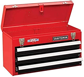 craftsman 3-drawer portable tool chest - red