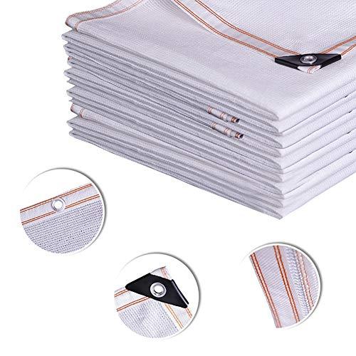 Schattierungsnetz YXX 85% Schattentuch für den Außenbereich mit Metallösen - UV-Strahlen-Schattennetz für Pergola/Gewächshäuser/Carport/Veranda/Pflanzen - Weiß (Size : 5mx6m)