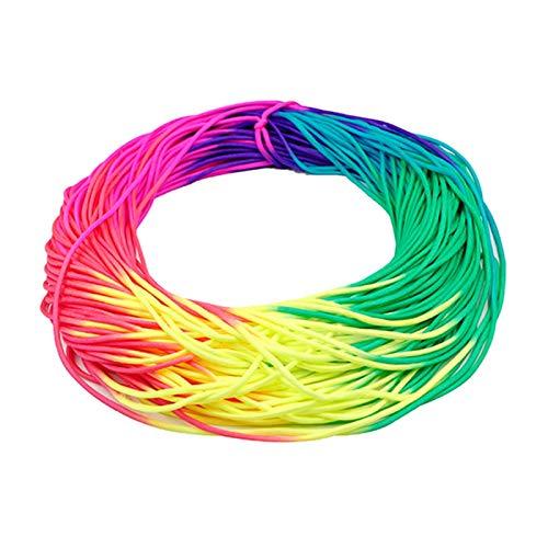 Cuerda de Paracord, Tipo III 7 Strand 550 Paracord 5m 10m 20m colorido cuerda del arco iris cordón del paracaídas Paracord Tie Dye Style (Length(m) : 5 Meters)