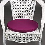 MKWEY Stuhlkissen Rund Outdoor Wasserfest 1Pack, Sitzkissen Outdoor 45x45 cm, Sitzpolster Gartenstuhl, Weich Baumwolle und Leinen Füllung Sitzauflage Für Stuhl Indoor Outdoor