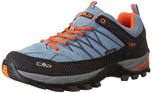 CMP Herren Rigel Low Shoe Wp Trekking- & Wanderhalbschuhe, Grau (Acciaio), 47 EU