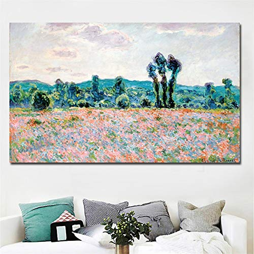 DIY 5D Diamantmalerei Set Vollbohrer Impressionismwild Poppy Sunrise 40x120cm Groß Diamant Painting Bilder Crystal Strass Stickerei Kreuzstich Full Diamond Painting Handwerk für Home Wall Art Dekor