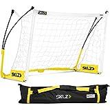SKLZ Pro Training Lightweight Portable Soccer Goal and Net, 6 x 4 Feet Black/Yellow