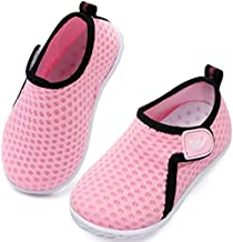 JIASUQI Babys Girls Boys Comfort Walking Water Shoes for Outdoor Swimming River Dot Pink 12-18 Months