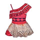 Lito Angels Traje de baño Moana Vaiana para niñas Vestido de baño de una pieza, Talla 2-3 años