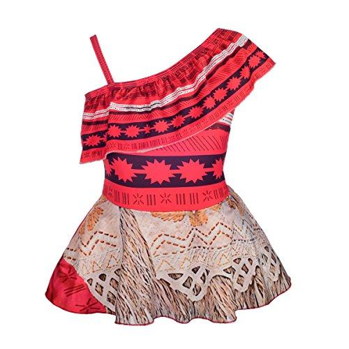 Lito Angels Vaiana Moana Badeanzug Einteiler für Kinder Mädchen, Bademode Schwimmkleid Sommer Strand, Größe Gr. 5 Jahre 110