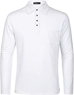 White Polo Shirts Cotton Classic Fit Short Sleeve Sport T-Shirt Casual Polos