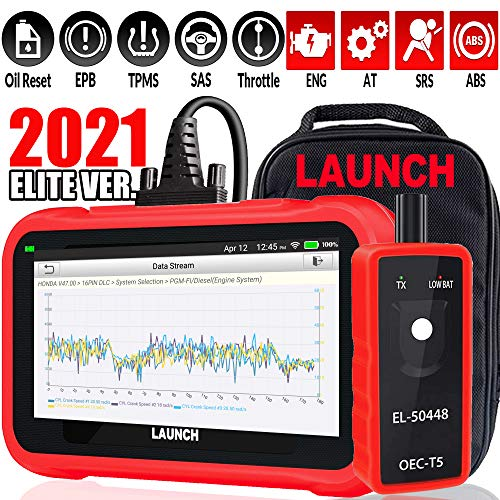 LAUNCH OBD2 Scanner CRP129E Code Reader for Engine/ABS/SRS/TCM Scan Tool,Oil lamp/EPB/SAS/TPMS/Throttle Body Reset,Auto VIN,Diagnostic Report,Free Update + TPMS Tool EL-50448-2021 Elite Ver.