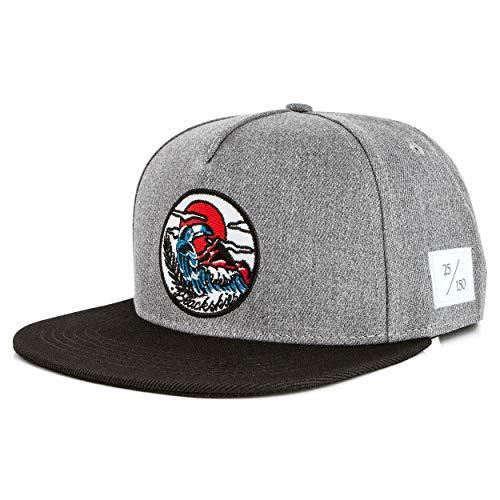 Blackskies Snapback Cap del 10º Aniversario Limitada a 150 Unidades   Gorra de béisbol para Damas y Caballeros Gorra de béisbol para surfistas Gris