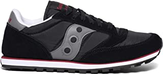 Men's Jazz Low Pro Classic Retro Sneaker, Black/Grey/Red, 14 M US