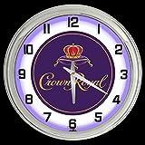 ELG Companies LLC 16' Crown Royal Whiskey Sign Purple Neon Clock