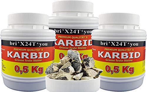 bri'X24T'you Karbid***NEU***0,500KGbis2,00KG Marken Premium Karbid der Firma BRIN'X UNERREICHT in QUALITÄT u. WIRKUNGsDauer Kör. 28-45(1,500KG)
