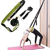 JJunLiM Yoga Ballet Leg Stretching Strap Back Bend Assist Trainer,Improve Back and Waist Flexibility,Door Flexibility Stretching Strap for Ballet,Dance,Yoga,Gymnastics,Splits,Workout (Verde)